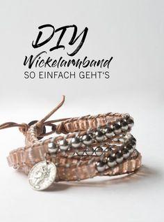 Tolles Leder-Wickelarmband selbst gemacht! Wie das geht, zeige ich Euch hier: www.thatslifeberlin.com #leather #diy #armband #wrapbracelet