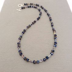 Your place to buy and sell all things handmade Blue Necklace, Gemstone Necklace, Shell Necklaces, Beaded Necklaces, Beaded Jewelry, Custom Jewelry Design, Designer Jewelry, Valentines Gifts For Her, Expensive Jewelry