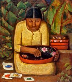 La Pintora de Uruapan, 1930 ~ Alfredo Ramos Martinez