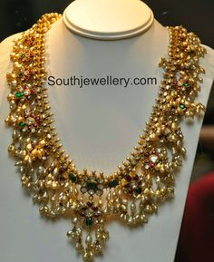 Traditional Guttapusalu Haram - Jewellery Designs