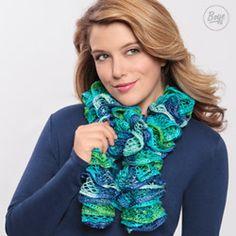 loom knitting scarf   loom knit ruffle scarf   craftgawker