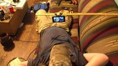 Why carry heavy phone in your hands, just relax Funny Photo of the day for Wednesday, 16 October 2013 from site Jokes of The Day - Laziness Level: Expert You Funny, Funny Jokes, Hilarious, Funny Shit, Funny Stuff, Funny Images, Funny Photos, Jokes Photos, Redneck Humor