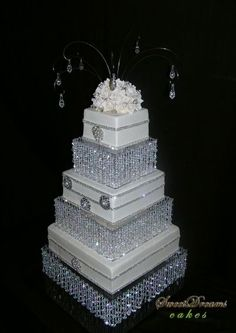 Bling wedding cake.. if you now me then you know this says ME all over it lol.