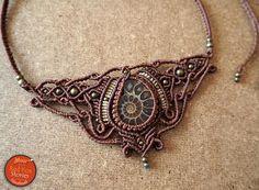 Ammonite Macrame Necklace ammonite macrame macrame necklace
