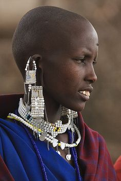 Masai - Tanzania NOT NECKLACES BUT LOVE THE EAR HOOKS