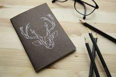 carnet brodé - deer