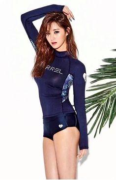 SNSD's Yuri modeling for Barrel swimwear.
