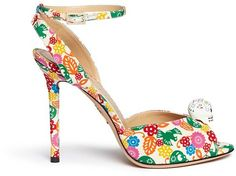 Pin for Later: 24 Pairs of Spring Shoes That Make a Serious Statement  Charlotte Olympia Sophia Skull Charm Floral Print Sandals (£735)