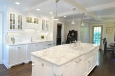 Calacatta Marble Counter Tops - kitchen countertops - other metro - Custom Marble & Granite