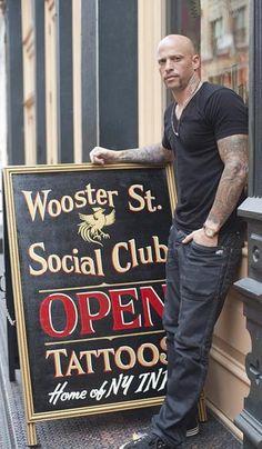 Ami James at his SoHo tattoo parlor