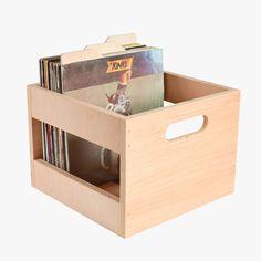 Maple Record Crate