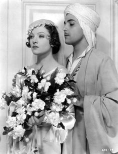 """Myrna Loy and Ramon Novarro in """"The Barbarian"""", 1933 Hollywood Couples, Old Hollywood Movies, Hollywood Icons, Golden Age Of Hollywood, Vintage Hollywood, Classic Hollywood, Hollywood Style, Myrna Loy, Classic Movie Stars"""