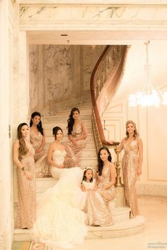How to make gold bridesmaids dresses work for your wedding