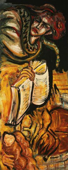 Le Tentazioni olio su tela 50x125 cm € 800,00 Info: c.muscarella@ideedisuccesso.com Opera acquistabile al link: http://ideedisuccesso.com/prodotto/le-tentazioni-opera-pittorica-di-sara-morghese-palermo/