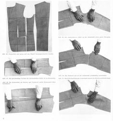 Ironwork for a Rundschau lounge coat - The Coatmaker's Forum - The Cutter and Tailor Coat Patterns, Clothing Patterns, Dress Patterns, Sewing Patterns, Suit Pattern, Jacket Pattern, Top Pattern, Pattern Draping, Tailoring Techniques