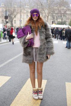 Fur and kicks at Paris Fashion Week Fall 2012