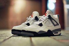 NIKE : Air Jordan IV 2012 White/Cement Grey Retro | Sumally