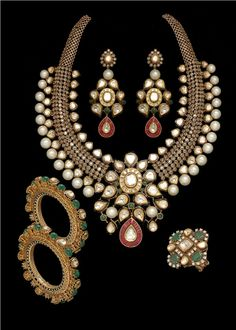 beautiful polki set for #desi_wedding