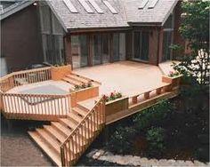 deck expansion for hot tub