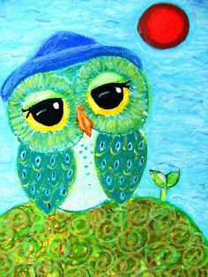 Owl Art - Sower Of Dreams by Udonchow Cute Owl Art And Gifts, via Flickr