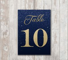 Gold Foil...get the look without the cost. Table Numbers DIY PDF files
