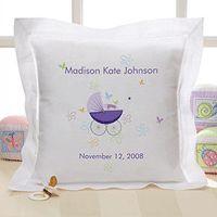 Heirloom Name Keepsake Embroidered Pillow