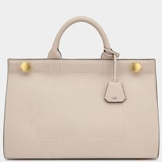 Shop Anya Hindmarch® luxury handbags, accessories and personalised bespoke gifts & accessories Anya Hindmarch Fall Winter, Autumn, Anya Hindmarch, Grey And White, Handle, Handbags, Purses, Leather, Top