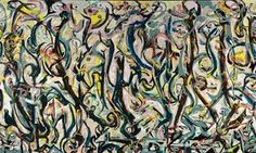 A cropped image of Jackson Pollock's Mural, 1943
