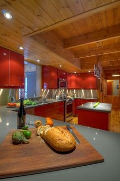 Kitchen More Red Kitchen Cabin Ideas Contemporary Kitchens House Ideas
