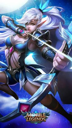 Miya Anime Mobile Legends Wallpaper – League Of Legends Wallpaper Full HD Mobile Legends Hd, Alucard Mobile Legends, Mobile Legend Wallpaper, Hero Wallpaper, Bang Bang, Fantasy Characters, Female Characters, Ashe League Of Legends, Moba Legends