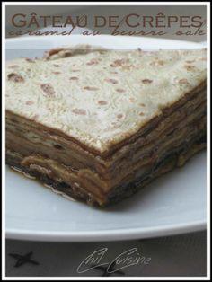 Gâteau de crêpes au caramel au beurre salé Galette, Cake, Ideas, Kitchens, Battle, Kuchen, Thoughts, Torte, Cookies