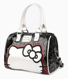#HelloKitty bag in eye-popping black, white and red EXCLUSIVE to #sanrio.com