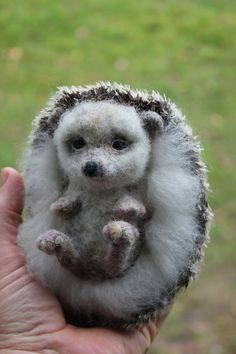 Felted Hedgehog 100% wool. It is miniature soft sculpture. Perfect for your home collection. Hedgehog is10cm (4in) width ,13cm(5in) length.