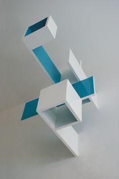 Brantt - 70 x 60 x 80 cm., high gloss paint on MDF Geometric 3d, Geometric Sculpture, Modern Sculpture, Wood Sculpture, Instalation Art, Design Research, Light And Shadow, Art And Architecture, Design Inspiration