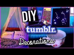 DIY Tumblr Room Decorations For The New Year With Hayleywi11iams! - YouTube (almofadas e quadro de constelações )