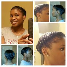 Goddess braid ; healthy hair; protective style