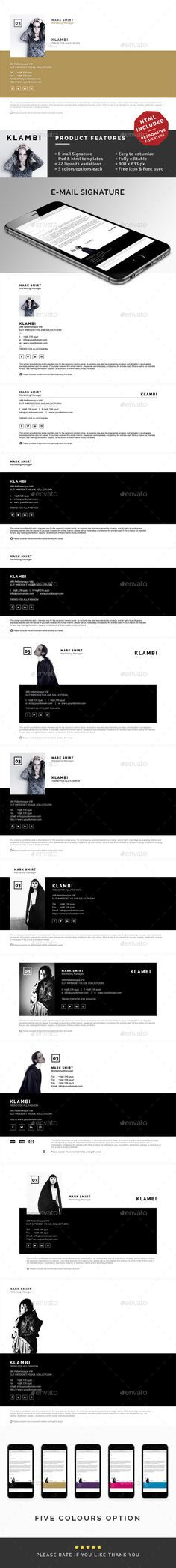 Awesome PSD  E-Mail Signature  Template • Click here to download ! http://graphicriver.net/item/email-signature/10067970?ref=pxcr