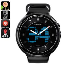 I4 Air Smart Watch Phone - 1 IMEI, 3G, 5MP Camera, WiFi, Calls, Messages, Social Media, Music, Pedometer, Heart Rate, Android OS - The I4 Air Smart Watch Phone features 1 IMEI number and runs on an Android OS. It lets you enjoy all smartphone features straight from your wrist.