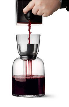Benjamin Hubert's WW Carafe has an aerator to improve wine's flavour.