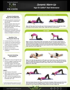 YOGA FOR GOLFERS|WORKOUTS|STRECHING Hip Stretches, Golf Exercises, Workouts, Yoga For Golfers, School Direct, Dynamic Warm Up, Workout Warm Up, Improve Flexibility, Meeting New People