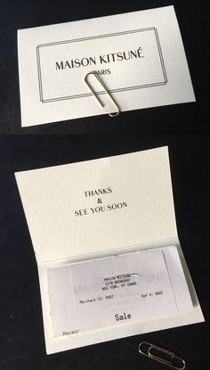 Maison Kitsune - receipt thank you card