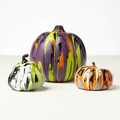 Give your pumpkins some spooky Halloween colors with this fun acrylic paint pouring project! Paint pour pumpkins of every size to add a little more color to your fall decor.