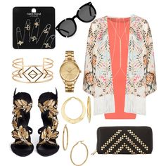 Summer outfit by loula02 on Polyvore featuring WearAll, Mat, Giuseppe Zanotti, Charlotte Russe, Topshop, Lacoste, Stella & Dot, Ross-Simons, Bony Levy and River Island