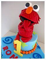 Elmo Sesame Street Childrens 1st Birthday Cake