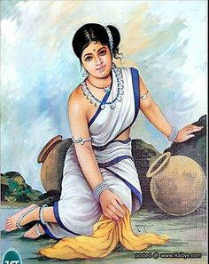 Beautiful traditional women paintings