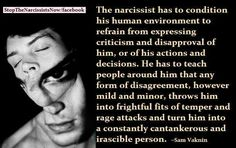 Narcissism Scary....