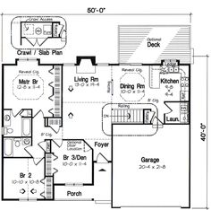 First Floor Plan of Cottage   Country   Ranch   Traditional   House Plan 24700