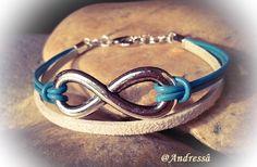 Armband  ♥   Infinity   ♥ von Andressâ auf DaWanda.com