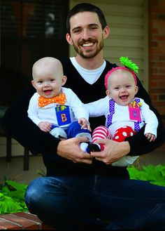 Happy Dad and Twins.