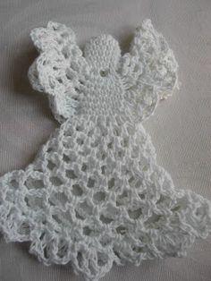Neljässä polvessa: Enkelparven tie (Virkatun enkelin ohje) Crochet Angels, Crochet Hats, Christmas Deco, Crochet Necklace, Crafts, Inspiration, Ideas, Crochet Christmas Trees, Necklaces